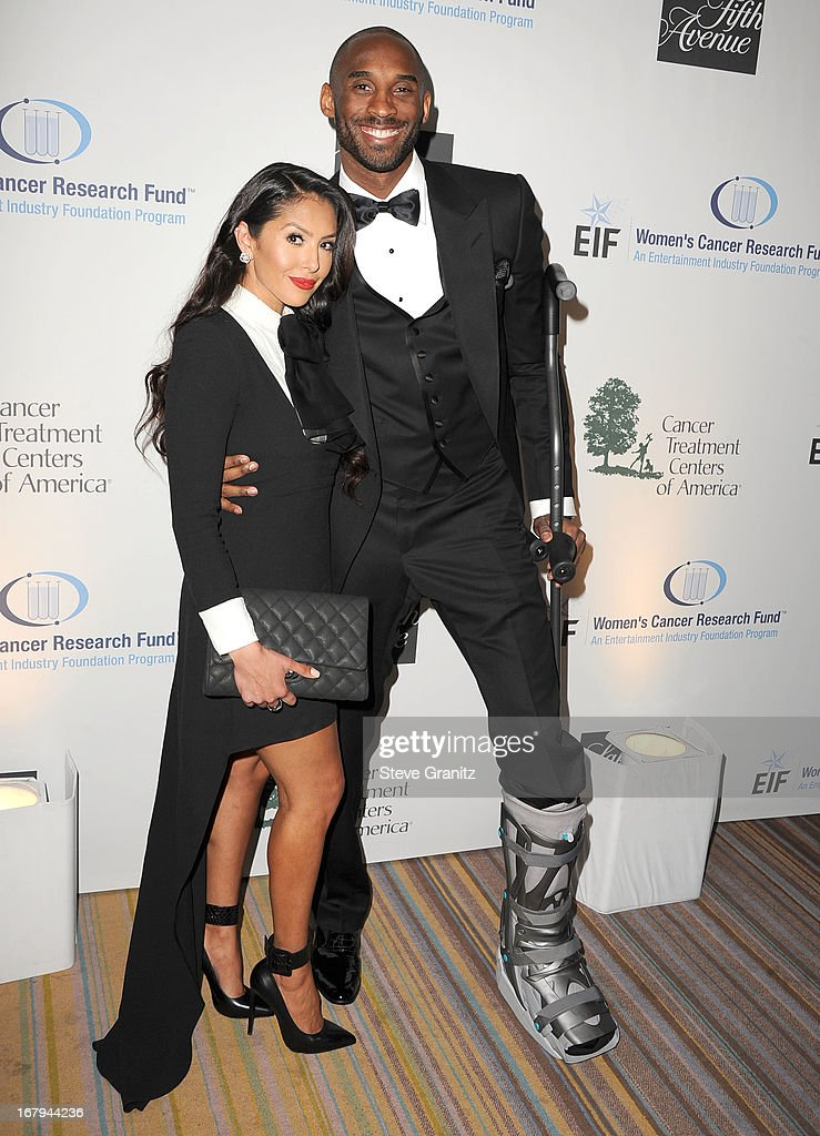 Kobe Bryant and Vanessa Bryant arrives at the An Unforgettable Evening Benefiting EIF's Women's Cancer Research Fund at Regent Beverly Wilshire Hotel on May 2, 2013 in Beverly Hills, California.