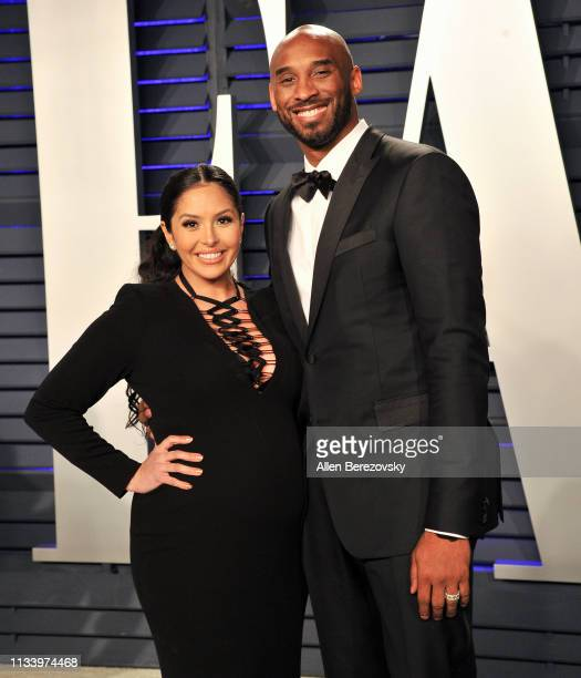 Kobe Bryant and Vanessa Bryant attend the 2019 Vanity Fair Oscar Party hosted by Radhika Jones at Wallis Annenberg Center for the Performing Arts on...