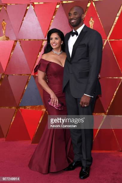 Kobe Bryant and Vanessa Laine Bryant attend the 90th Annual Academy Awards at Hollywood Highland Center on March 4 2018 in Hollywood California