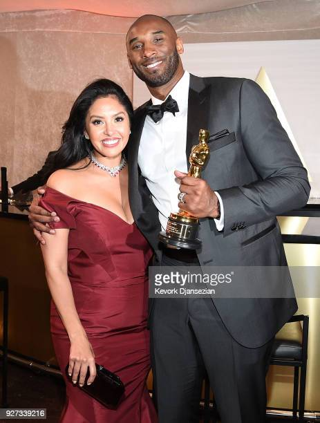 Kobe Bryant and Vanessa Laine Bryant attend the 90th Annual Academy Awards Governors Ball at Hollywood Highland Center on March 4 2018 in Hollywood...