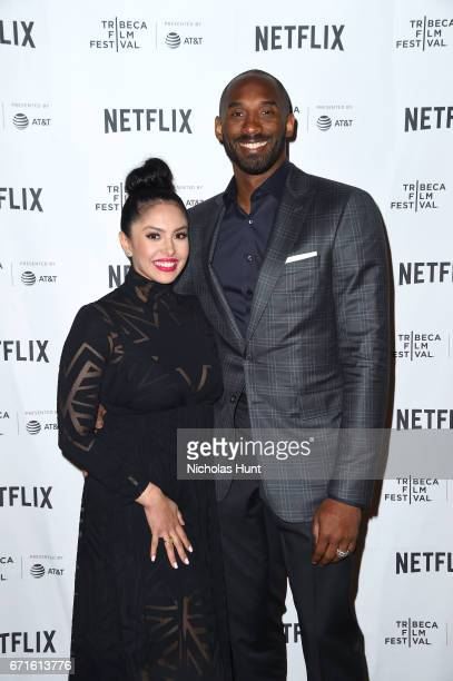 Kobe Bryant and Vanessa Laine Bryant attend Tribeca Shorts Animated Shorts curated by Whoopi Goldberg during the 2017 Tribeca Film Festival at SVA...