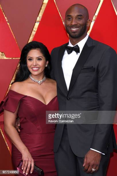 Kobe Bryant and Vanessa Laine Bryant attends the 90th Annual Academy Awards at Hollywood Highland Center on March 4 2018 in Hollywood California