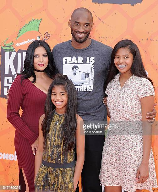 Kobe Bryant and Vanessa Laine Bryant Gianna MariaOnore Bryant and Natalia Diamante Bryant arrive at Nickelodeon Kids' Choice Sports Awards 2016 at...