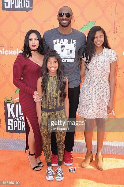 Kobe Bryant and Vanessa Laine Bryant Gianna MariaOnore Bryant and Natalia Diamante Bryant arrive at Nickelodeon Kids' Choice Sports Awards 2016 at...