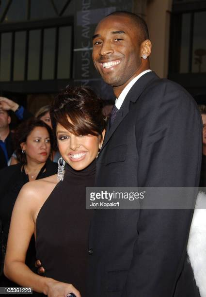 Kobe Bryant and wife during 32nd Annual American Music Awards Arrivals at Shrine Auditorium in Los Angeles California United States
