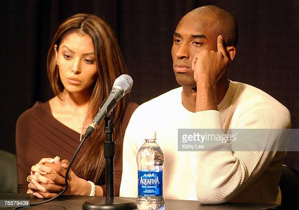 Kobe Bryant and wife Vanessa at Staples Center press conference