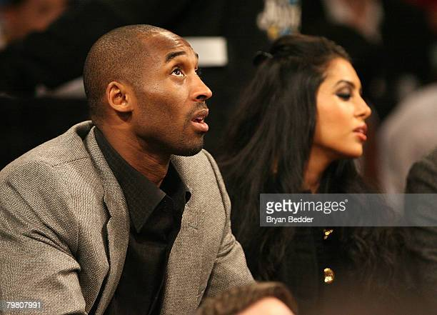 Kobe Bryant and Wife Vanessa Bryant attend the NBA AllStar Saturday Night part of 2008 NBA AllStar Weekend at the New Orleans Arena on February 16...