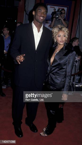 Kobe Bryant and wife Vanessa Bryant attend the world premiere of Rush Hour 2 on July 26 2001 at Mann Chinese Theater in Hollywood California