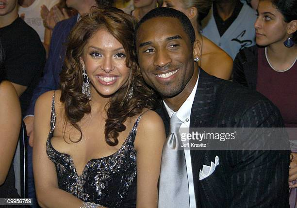 Kobe Bryant and wife Vanessa during 2004 MTV Movie Awards Backstage and Audience at Sony Pictures Studios in Culver City California United States