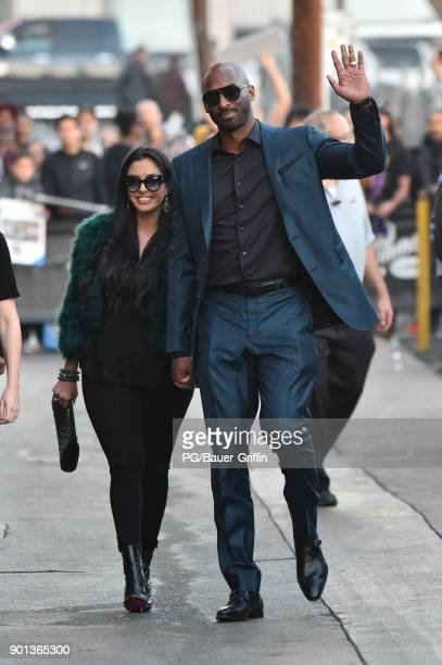 Kobe Bryant and wife Vanessa Laine Bryant are seen on January 04 2018 in Los Angeles California