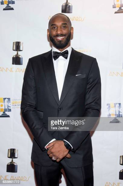 Kobe Bryant arrives to the 44th Annual Annie Awards at Royce Hall on February 4 2017 in Los Angeles California