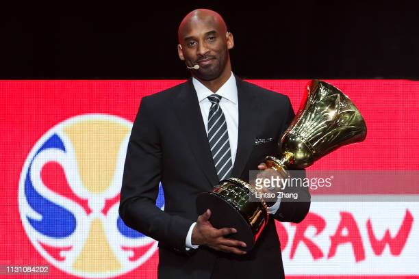 Kobe Bryant attend the FIBA Basketball World Cup 2019 Draw Ceremony at Shenzhen Bay Arena on March 16 2019 in Shenzhen China