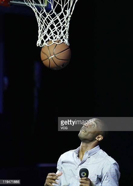 Kobe Bryant attends Benz Smart promotional event at Baosteel Stage on July 20 2011 in Shanghai China