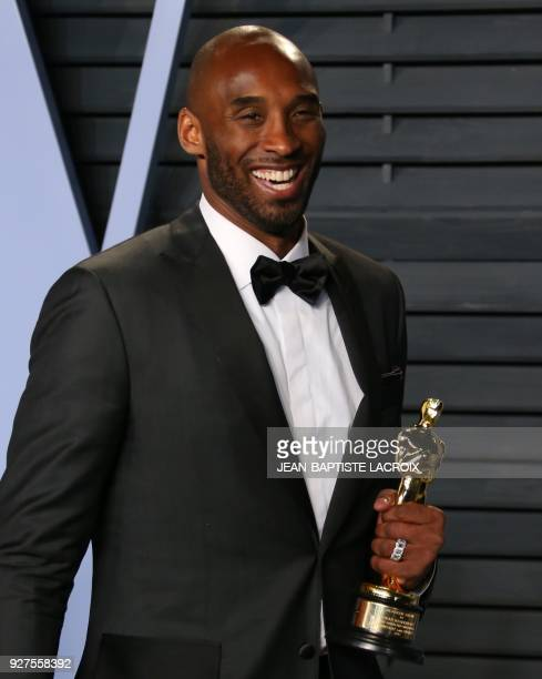 Kobe Bryant attends the 2018 Vanity Fair Oscar Party following the 90th Academy Awards at The Wallis Annenberg Center for the Performing Arts in...