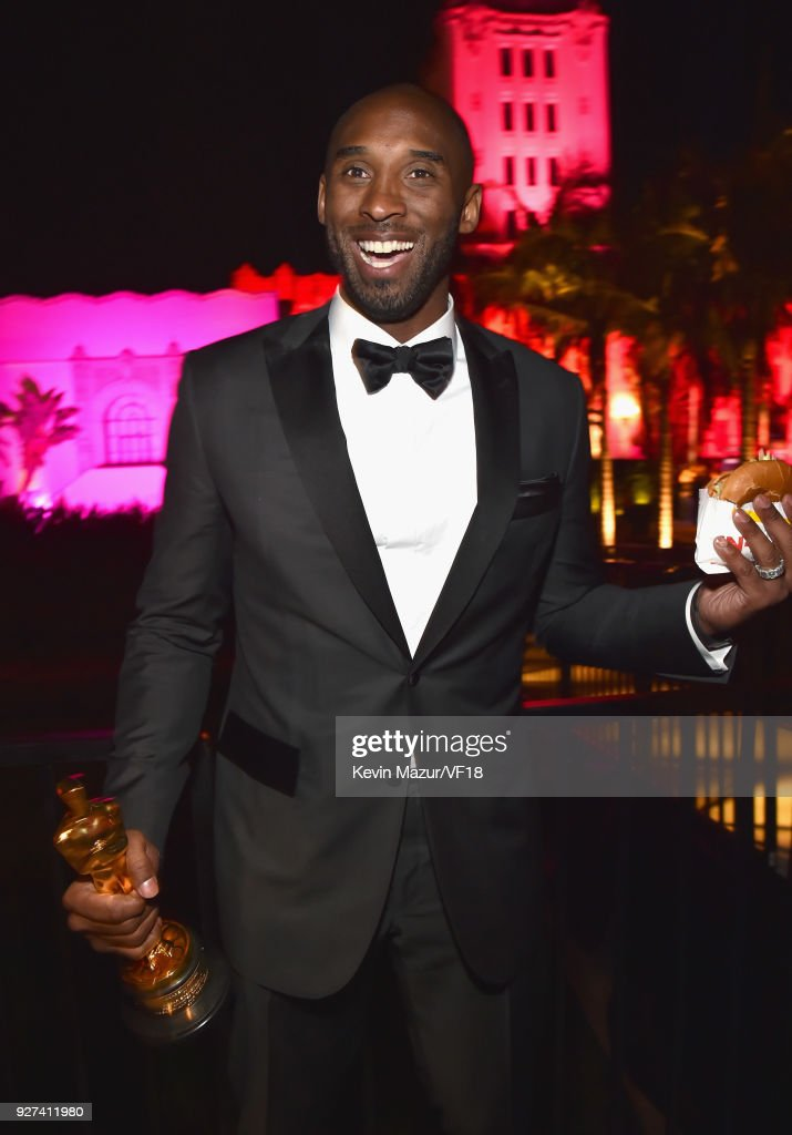 Kobe Bryant attends the 2018 Vanity Fair Oscar Party hosted by Radhika Jones at Wallis Annenberg Center for the Performing Arts on March 4, 2018 in Beverly Hills, California.