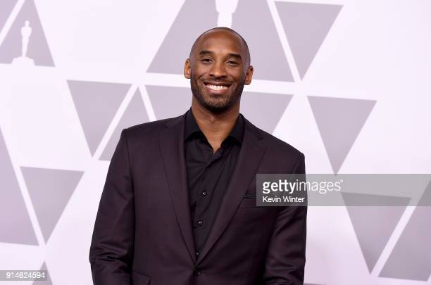 Kobe Bryant attends the 90th Annual Academy Awards Nominee Luncheon at The Beverly Hilton Hotel on February 5 2018 in Beverly Hills California