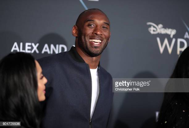 Kobe Bryant attends the premiere of Disney's A Wrinkle In Time at the El Capitan Theatre on February 26 2018 in Los Angeles California
