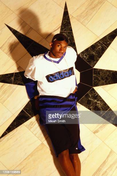 Kobe Bryant basketball player poses for a portrait at home in Bel Air, California in 1996.