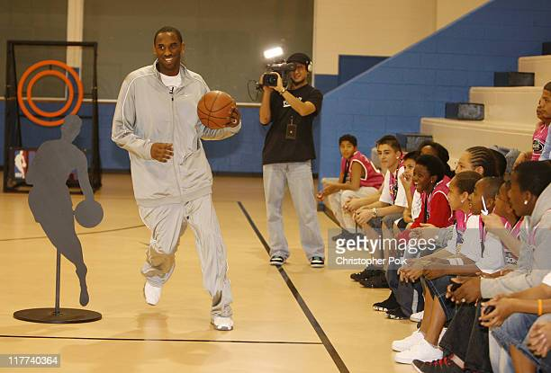 Kobe Bryant during Kobe Bryant and NBA '07's Eclectic Billy Joe Cuthbert Join Kids From the Lied Memorial Boys and Girls Club of Las Vegas at Lied...
