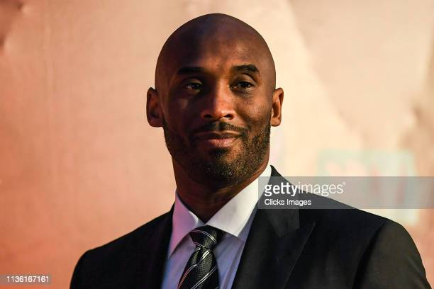 Kobe Bryant during the FIBA Basketball World Cup 2019 Draw Ceremony on March 16 2019 in Shenzhen China
