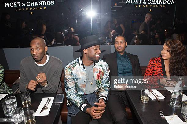 Kobe Bryant Dwyane Wade Carmelo Anthony and Lala Anthony at The Gentleman's Supper Club hosted by Chris Paul Dwyane Wade and Carmelo Anthony honoring...