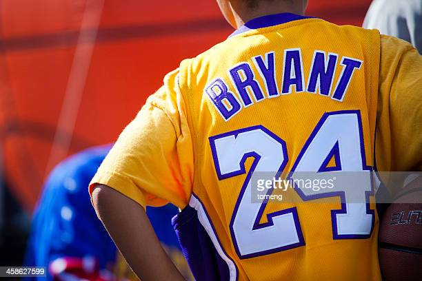 kobe bryant fan - los angeles lakers photos stock pictures, royalty-free photos & images