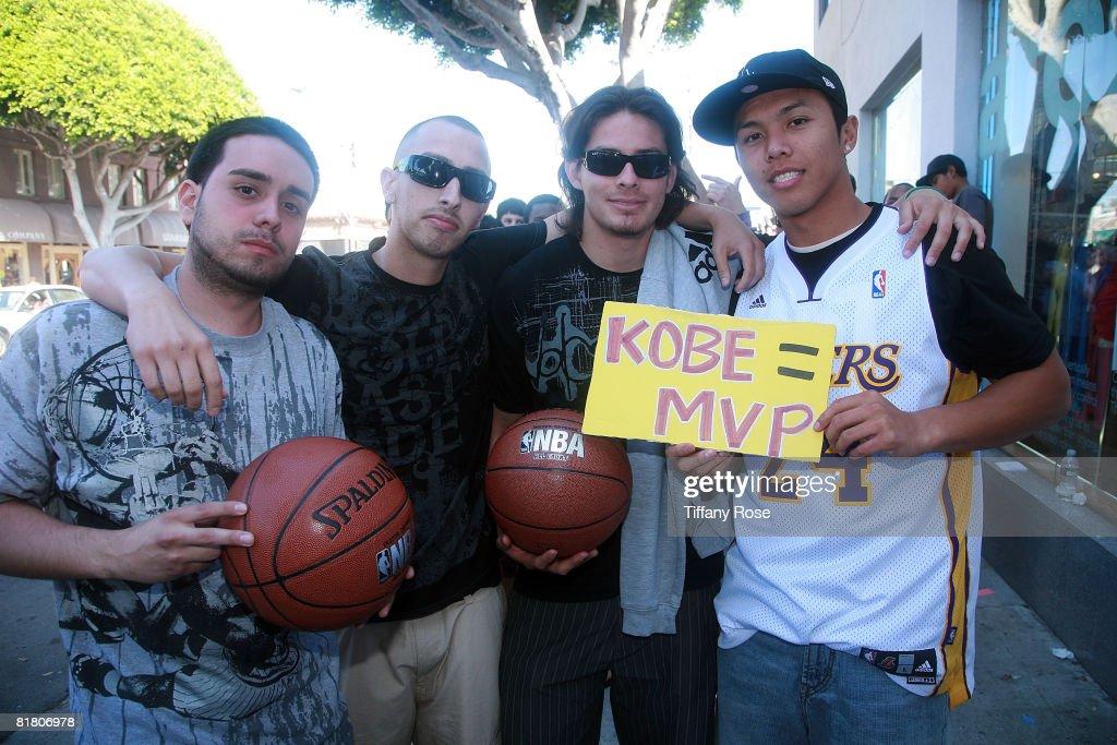 9f3b3ec0c5ad Kobe Bryant Launches The Hyperdunk Limited Colorway At Nike Santa Monica    News Photo