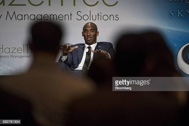 Kobe Bryant former National Basketball Association player and chief executive officer of Kobe Inc speaks during the Skybridge Alternatives conference...