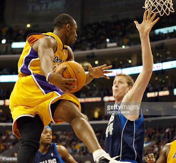 Kobe Bryant from the Los Angeles Lakers jumps during the second quarter of his game against Dallas Mavericks at the Staples Center in Los Angeles 06...