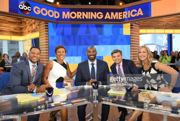 AMERICA Kobe Bryant is a guest on 'Good Morning America' Monday April 24 2017 airing on the ABC Television Network MICHAEL