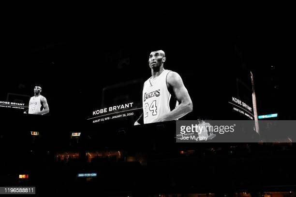 Kobe Bryant is honored before the game between the Memphis Grizzlies and the Phoenix Suns on January 26, 2020 at FedExForum in Memphis, Tennessee....