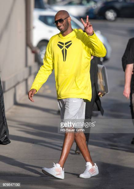 Kobe Bryant is seen at 'Jimmy Kimmel Live' on March 08 2018 in Los Angeles California