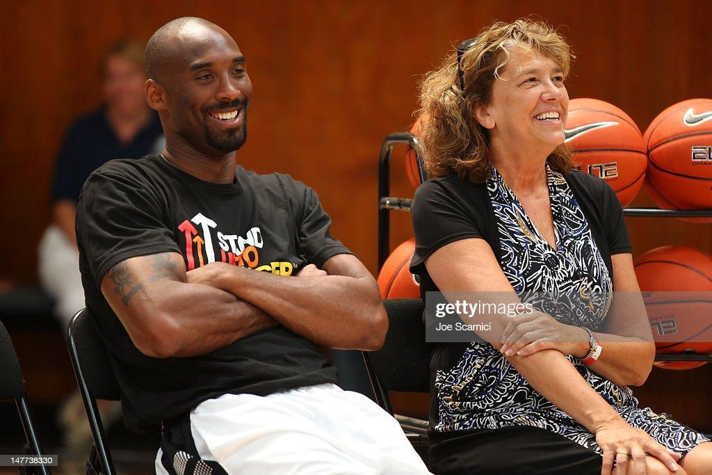 Kobe Bryant, Sprite Revamp Boys & Girls Club Of Santa Barbara Gym : News Photo
