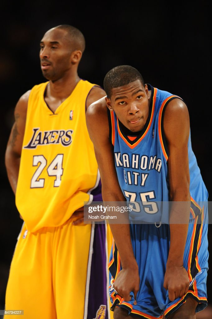 0b900cc74ce7 Kobe Bryant of the Los Angeles Lakers and Kevin Durant of the ...