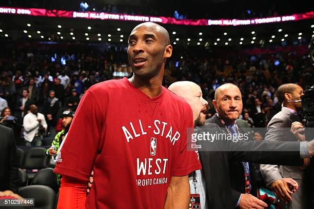 Kobe Bryant of the Los Angeles Lakers and the Western Conference walks off the court after defeating the Eastern Conference during the NBA AllStar...