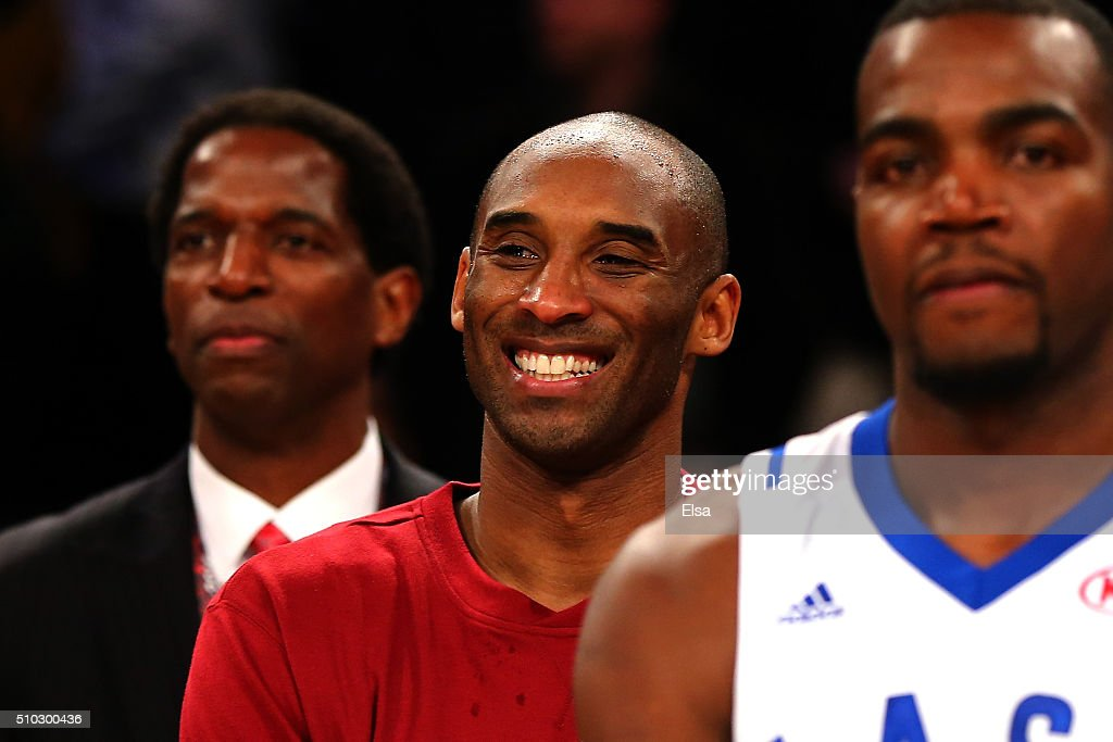 Kobe Bryant #24 of the Los Angeles Lakers and the Western Conference looks on after defeating the Eastern Conference during the NBA All-Star Game 2016 at the Air Canada Centre on February 14, 2016 in Toronto, Ontario.