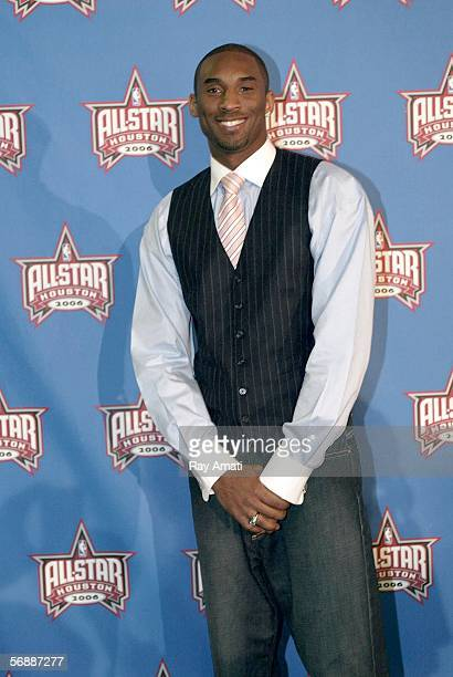 Kobe Bryant of the Los Angeles Lakers arrives at the 2006 NBA AllStar Game February 19 2006 at the Toyota Center in Houston Texas NOTE TO USER User...