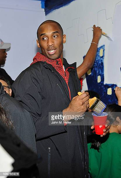 Kobe Bryant of the Los Angeles Lakers attends the NBA Cares AllStar Day of Service with City Year at Virgil Middle School on February 18 2011 in Los...