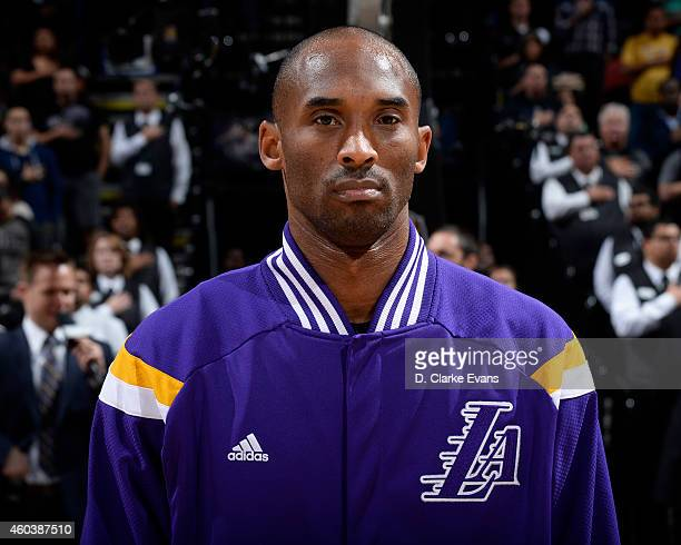 Kobe Bryant of the Los Angeles Lakers before the game against the San Antonio Spurs at the ATT Center on December 12 2014 in San Antonio Texas NOTE...