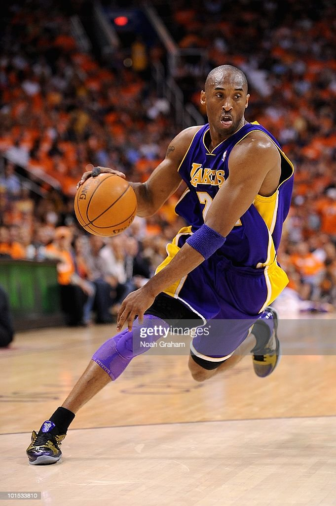 Kobe Bryant #24 of the Los Angeles Lakers drives to the basket in Game Three of the Western Conference Finals against the Phoenix Suns during the 2010 NBA Playoffs on May 23, 2010 at US Airways Center in Phoenix, Arizona. The Suns won 118-109.