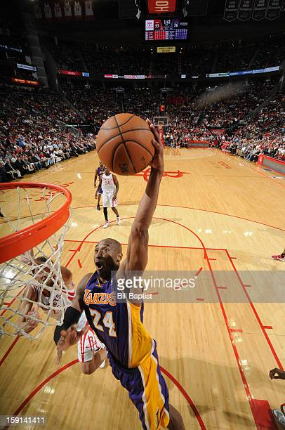 Kobe Bryant of the Los Angeles Lakers dunks against the Houston Rockets on January 8 2013 at the Toyota Center in Houston Texas NOTE TO USER User...
