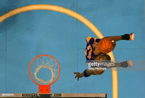 Kobe Bryant of the Los Angeles Lakers dunks the ball against the Denver Nuggets in Game Six of the Western Conference Finals during the 2009 NBA...