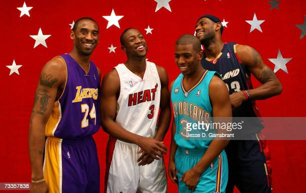 Kobe Bryant of the Los Angeles Lakers, Dwyane Wade of the Miami Heat, Chris Paul of the New Orleans/Oklahoma City Hornets and LeBron James of the...
