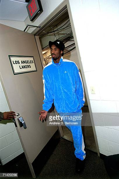 Kobe Bryant of the Los Angeles Lakers enters the team locker room prior to taking on the Indiana Pacers during Game Four of the 2000 NBA Finals...