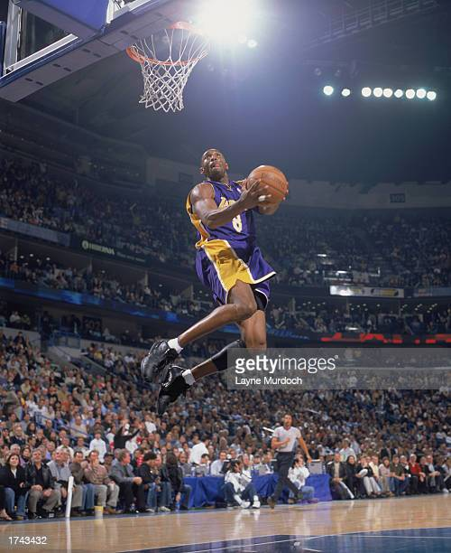 Kobe Bryant of the Los Angeles Lakers goes up with the ball during the game against the New Orleans Hornets at New Orleans Arena on January 15 2003...