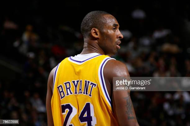 Kobe Bryant of the Los Angeles Lakers looks on during the game against the Philadelphia 76ers at the Wachovia Center December 21 2007 in Philadelphia...