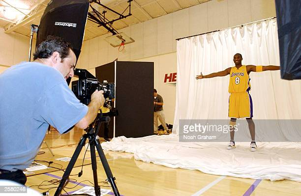 Kobe Bryant of the Los Angeles Lakers October 10 2003 at the teams training center in El Segundo California NOTE TO USER User expressly acknowledges...