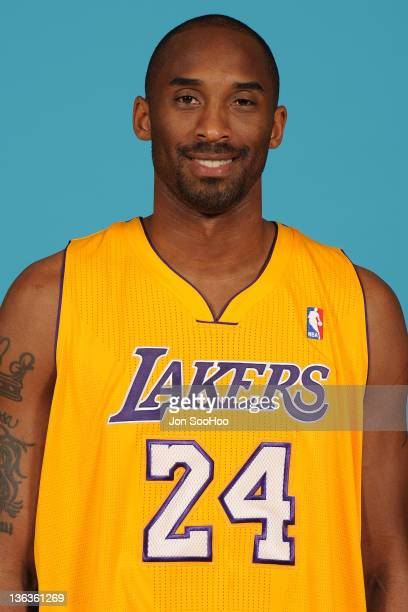 Kobe Bryant of the Los Angeles Lakers poses for a photo during Media Day at Toyota Sports Center on December 11 2011 in El Segundo California NOTE TO...