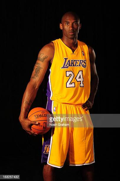 Kobe Bryant of the Los Angeles Lakers poses for a photo during Media Day at Toyota Sports Center on October 1 2012 in El Segundo California NOTE TO...