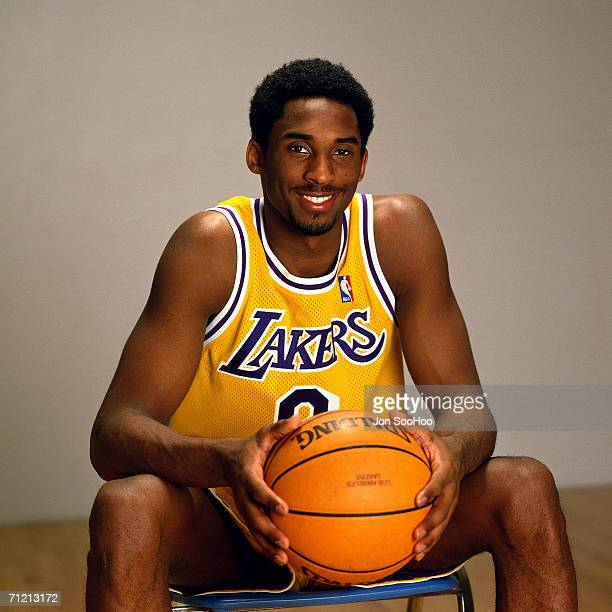 Kobe Bryant of the Los Angeles Lakers poses for a photo in 1998 NOTE TO USER User expressly acknowledges that by downloading and or using this...